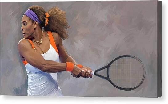 Serena Williams Canvas Print - Serena Williams Artwork by Sheraz A
