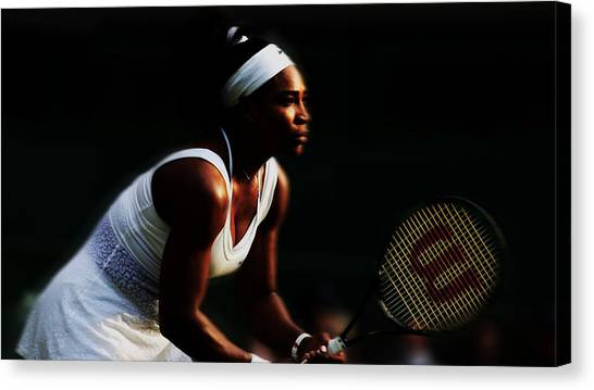 Maria Sharapova Canvas Print - Serena Williams Bringing The Pain by Brian Reaves