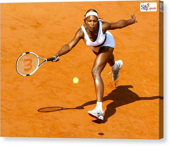 Tennis Pros Canvas Print - Serena Williams by Jackie Russo