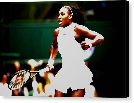 Serena Williams Canvas Print - Serena Williams Making History by Brian Reaves