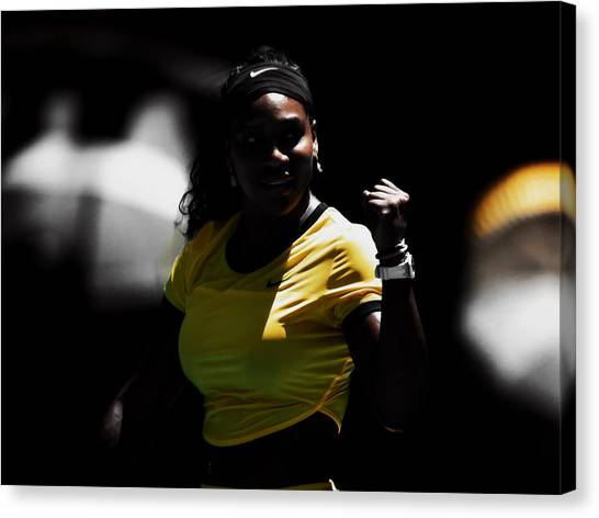 Maria Sharapova Canvas Print - Serena Williams Making It Count by Brian Reaves