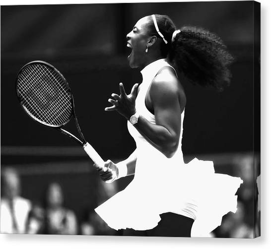 Venus Williams Canvas Print - Serena Williams Making Magic Happen by Brian Reaves