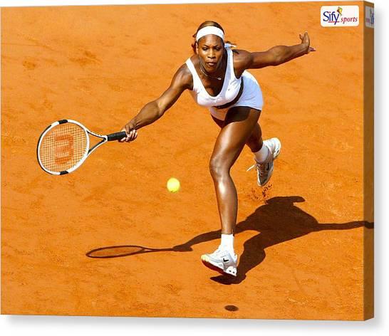 Tennis Pros Canvas Print - Serena Williams by Mariel Mcmeeking