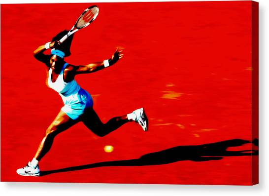 Maria Sharapova Canvas Print - Serena Williams Never Give Up by Brian Reaves