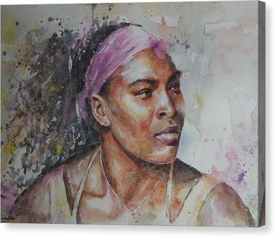 Serena Williams Canvas Print - Serena Williams - Portrait 6 by Baris Kibar