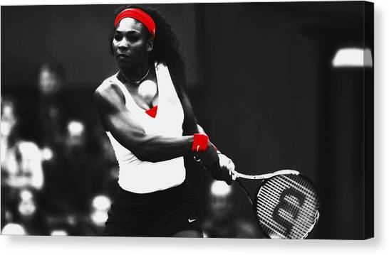 Maria Sharapova Canvas Print - Serena Williams Putting In Work by Brian Reaves
