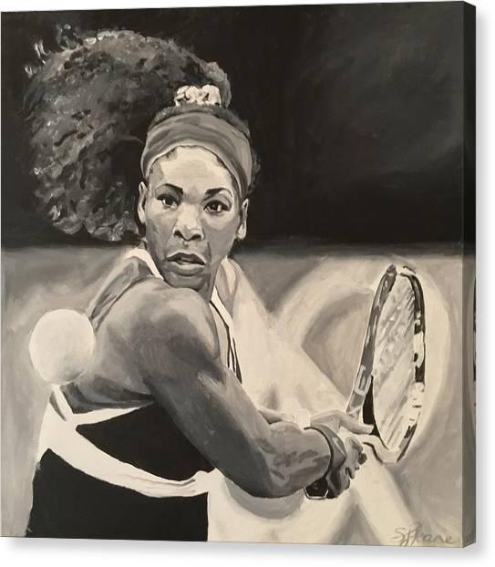 Serena Williams Canvas Print - Serena Williams by Sarah LaRose Kane