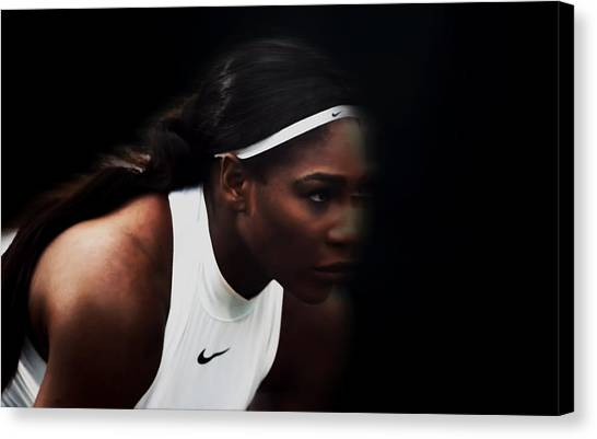 Maria Sharapova Canvas Print - Serena Williams Sharp Focus by Brian Reaves