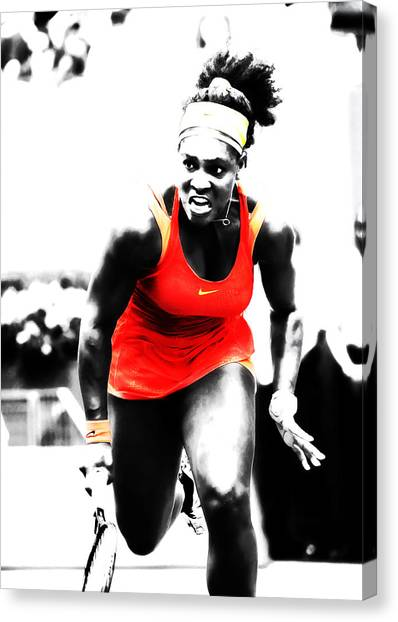 Venus Williams Canvas Print - Serena Williams Go Get It by Brian Reaves