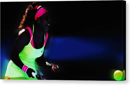 Maria Sharapova Canvas Print - Serena Williams Triumpant by Brian Reaves