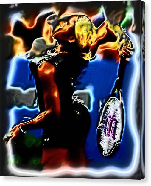 Venus Williams Canvas Print - Serena Williams Thermal Catsuit by Brian Reaves