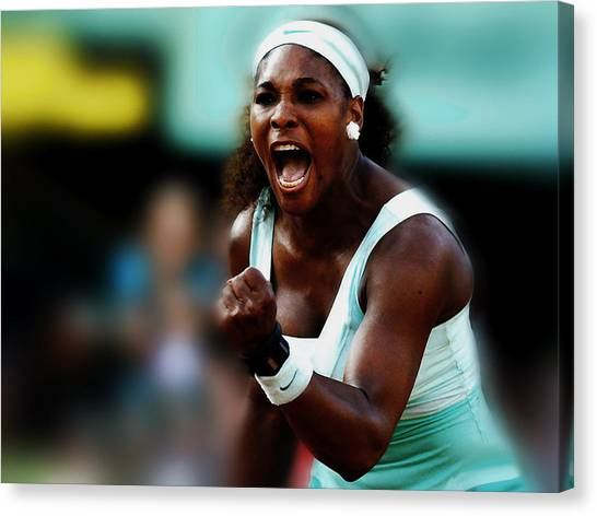Maria Sharapova Canvas Print - Serena Winning Spirit by Brian Reaves