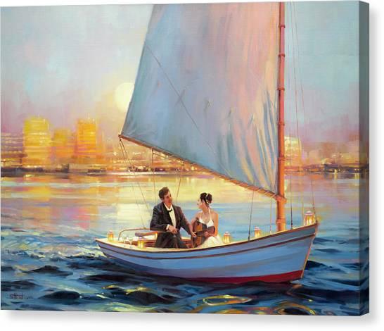 Couples Canvas Print - Serenade by Steve Henderson