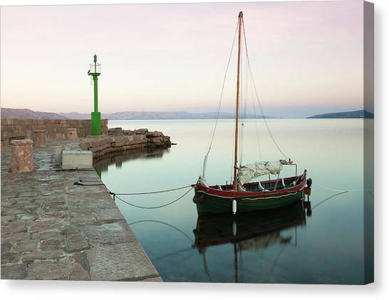 Canvas Print featuring the photograph Serene Awakening by Davor Zerjav