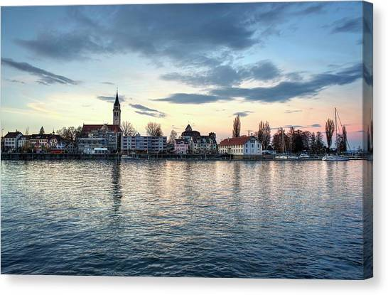Canvas Print featuring the photograph Serene Blue Hour by Quality HDR Photography