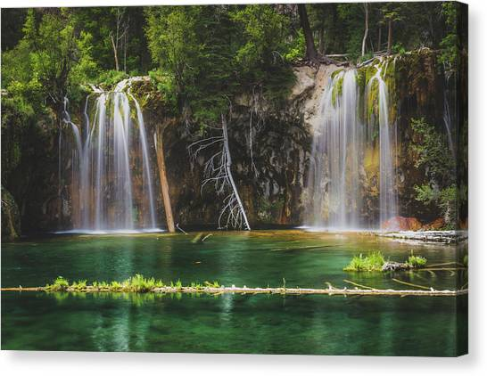 Serene Hanging Lake Waterfalls Canvas Print