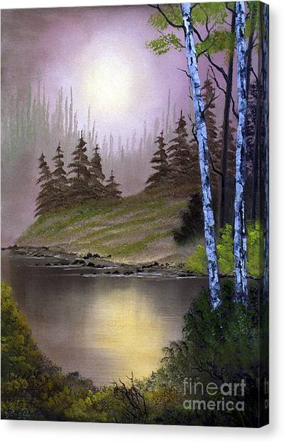 Canvas Print featuring the photograph Serene Nightscape by Dee Flouton