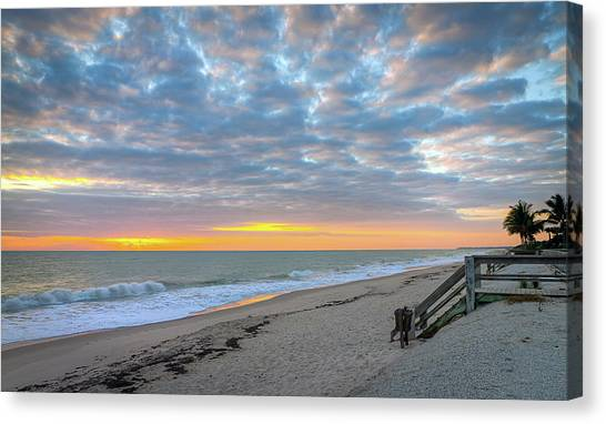 Serene Seascpe Sunrise Canvas Print