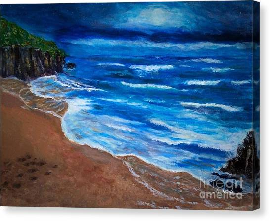 Serene Seashore Canvas Print