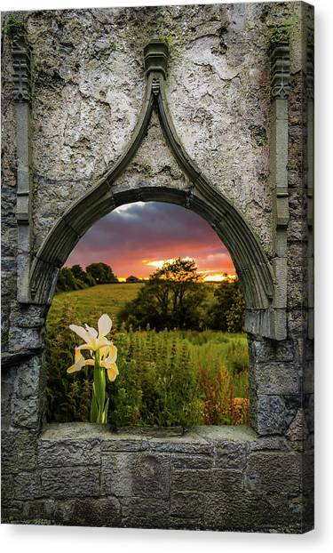 Canvas Print featuring the photograph Serene Sunset Over County Clare by James Truett