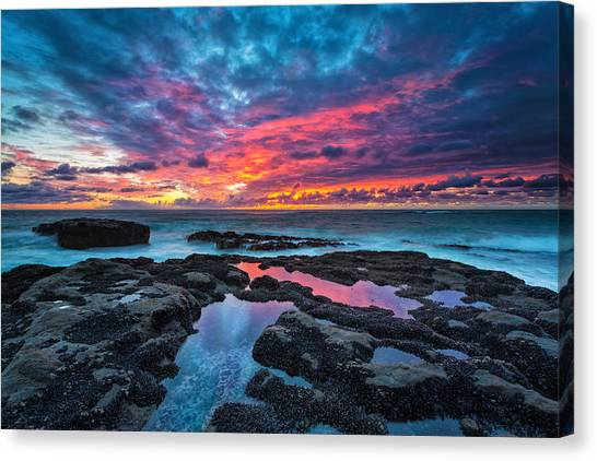 Pacific Coast Canvas Print - Serene Sunset by Robert Bynum