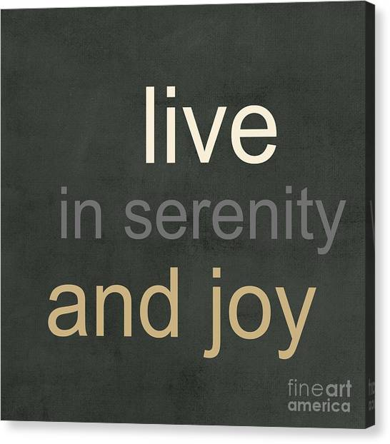 Buddha Canvas Print - Serenity And Joy by Linda Woods