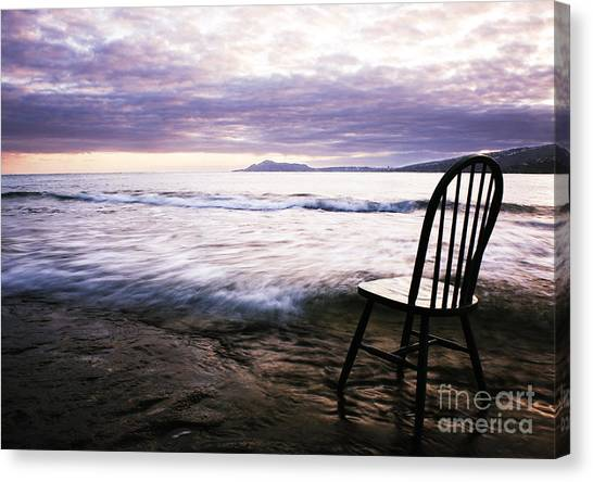 Serenity At Portlock Canvas Print by Charmian Vistaunet