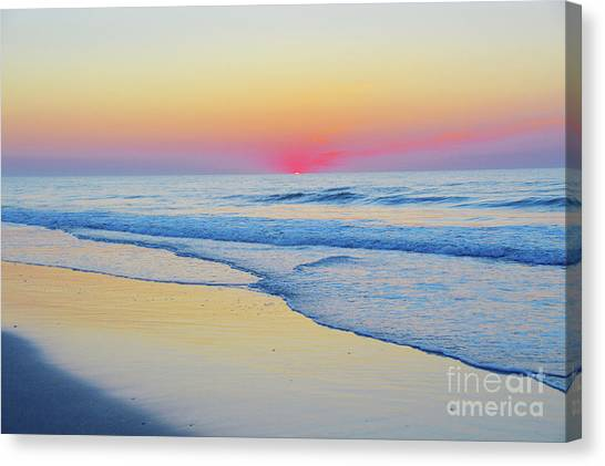 Serenity Beach Sunrise Canvas Print