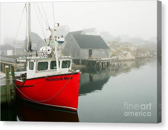 Serenity In Red Canvas Print