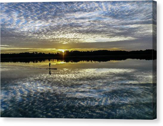 Serenity On A Paddleboard Canvas Print