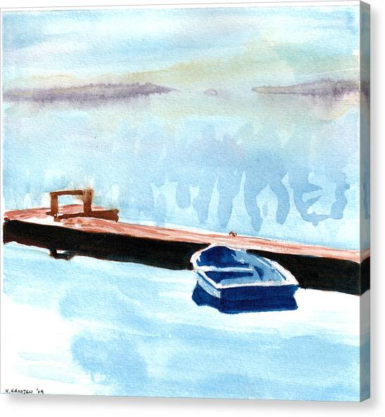 Serenity On The Lake Canvas Print by Kerry Hartjen