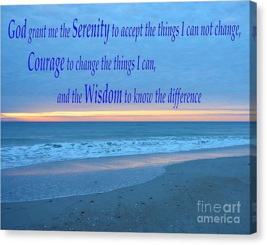 Serenity Prayer-1 Canvas Print