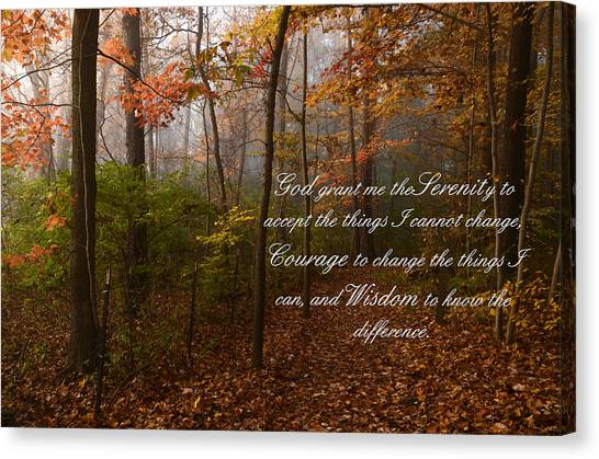 Serenity Prayer Canvas Print