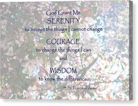 Serenity Prayer Canvas Print by Edward Congdon