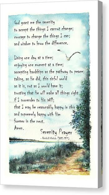 Serenity Prayer The Full Version Canvas Print