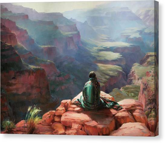 Sunset Horizon Canvas Print - Serenity by Steve Henderson