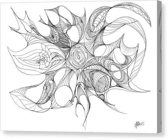Serenity Swirled Canvas Print