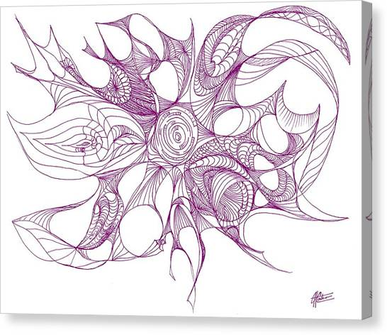 Serenity Swirled In Purple Canvas Print