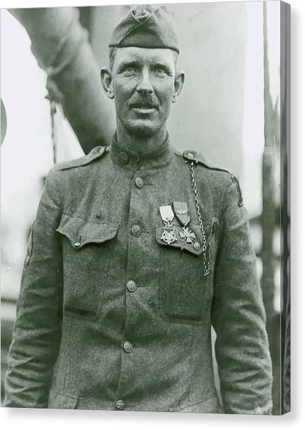 Soldiers Canvas Print - Sergeant Alvin York by War Is Hell Store