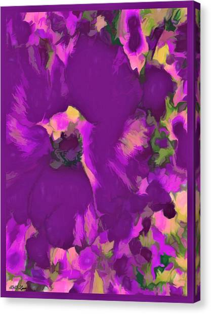 Border Wall Canvas Print - Series Of Hibiscus Flower by Debra Lynch