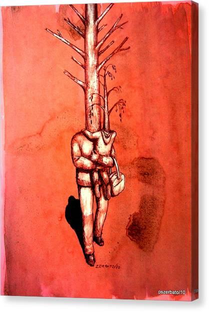 Series Trees Drought 3 Canvas Print by Paulo Zerbato