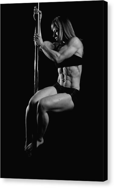 Serious About Abs Canvas Print