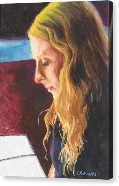 Serious Contemplation Of A Menu Canvas Print
