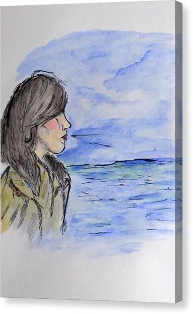 Serious Girl Canvas Print
