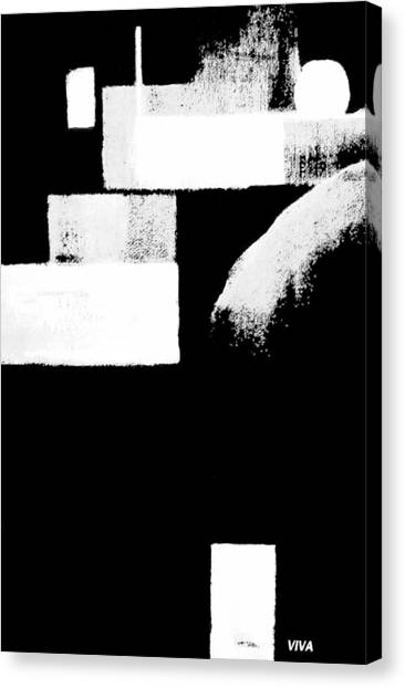 Seriously Black And White Canvas Print