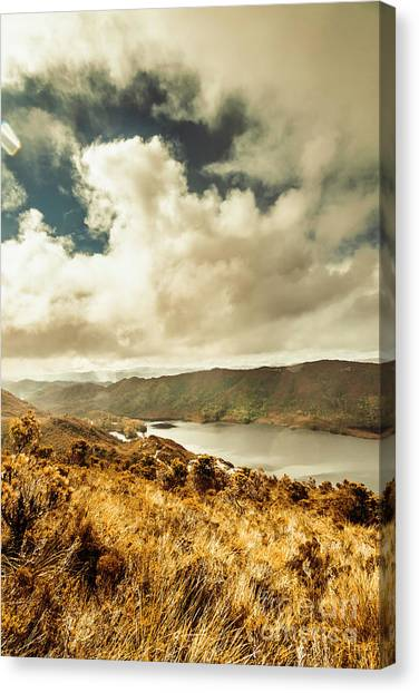 Mountain Ranges Canvas Print - Serpentine Dam Tasmania by Jorgo Photography - Wall Art Gallery