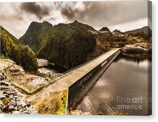 Travel Destinations Canvas Print - Serpentine River Crossing by Jorgo Photography - Wall Art Gallery