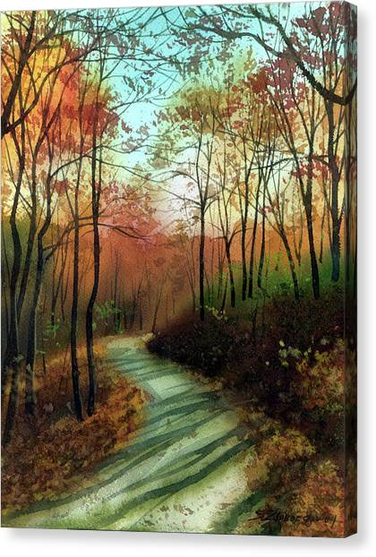 Serpentine Road Canvas Print