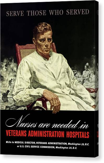 Health Care Canvas Print - Serve Those Who Served - Va Hospitals by War Is Hell Store