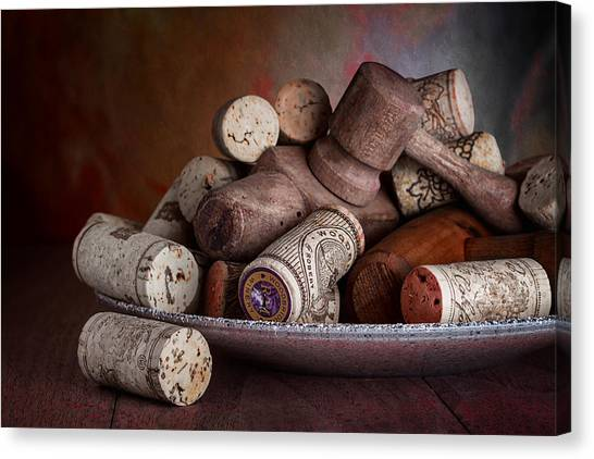 Keg Canvas Print - Served - Wine Taps And Corks by Tom Mc Nemar